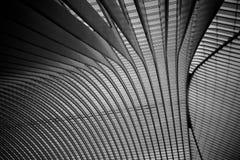 Le toit de la gare ferroviaire de Liège-Guillemins Photographie stock libre de droits