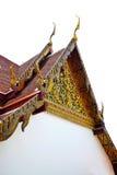 Le toit de pignon du temple thaïlandais a isolé 0213 Photo libre de droits