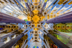 Le toit de Sagrada Familia Photo stock