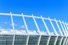 Le toit du Stade Olympique à Kiev Photographie stock