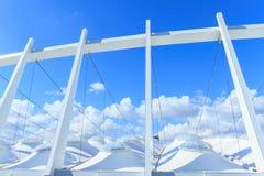 Le toit du Stade Olympique à Kiev Images stock