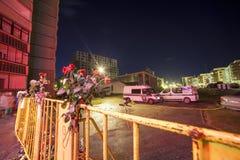 Le toit du supermarché s'est effondré à Riga, Lettonie, l'Europe Photo libre de droits