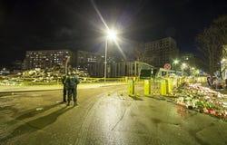 Le toit du supermarché s'est effondré à Riga, Lettonie, l'Europe Photographie stock libre de droits