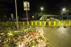 Le toit du supermarché s'est effondré à Riga, Lettonie, l'Europe Photos libres de droits