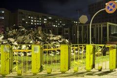Le toit du supermarché s'est effondré à Riga, Lettonie, l'Europe Images libres de droits