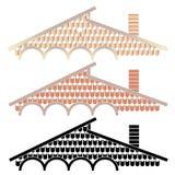 Le toit est couvert de tuiles Images stock
