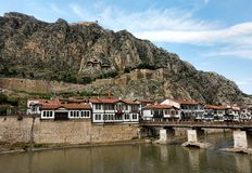 Le tombe dei re di Pontus hanno individuato in Amasya Turchia del Nord Fotografie Stock