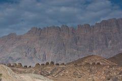 Le tombe di Beehve a Jabal Misht, sultanato dell'Oman Immagini Stock Libere da Diritti