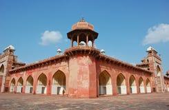 Le tombeau d'Akbar à Agra, Inde Photographie stock