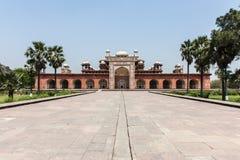 Le tombeau d'Akbar, Agra, Inde Image libre de droits