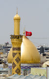 Le tombeau d'Imam Hussein dans Karbala Images stock