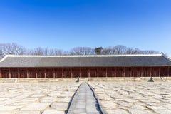 Le tombeau de Jongmyo est un tombeau confucéen et les comprimés d'esprit de k Image stock