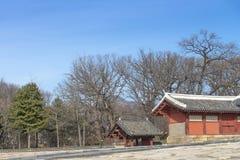 Le tombeau de Jongmyo est un tombeau confucéen et les comprimés d'esprit de k Photo stock