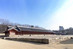 Le tombeau de Jongmyo est un tombeau confucéen et les comprimés d'esprit de k Photographie stock