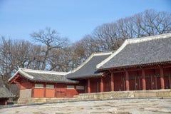 Le tombeau de Jongmyo est un tombeau confucéen et les comprimés d'esprit de k Photos stock