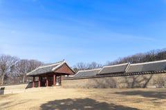 Le tombeau de Jongmyo est un tombeau confucéen et les comprimés d'esprit de k Photo libre de droits