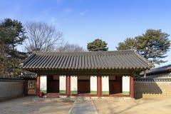 Le tombeau de Subsidiar dans le tombeau de Jongmyo est les comprimés d'esprit du roi Photographie stock