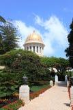 Le tombeau du Bab, jardins de Bahai, Haïfa Photo stock