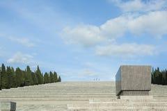 Le tombeau militaire de Redipuglia, Italie Images libres de droits
