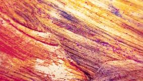Le ton lumineux rougeoyant a dispersé le scintillement sur la surface colorée Art abstrait de courses de brosse Conception tirée  image stock