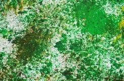 Le tonalità grige verdi, punti contrappongono il fondo dell'acquerello della pittura, fondo astratto della pittura di acrilico de immagini stock libere da diritti