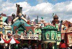 Le toontown de Mickey dans disneyland Photos libres de droits