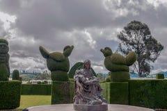 Le topiaire le plus élaboré au nouveau monde, cimetière de Tulcan photos stock