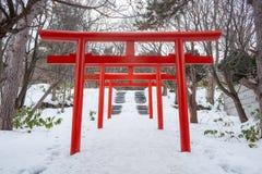 Le torii à l'inari Sapporo de Fushimi images libres de droits