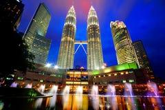 Le torrette di Petronas Fotografia Stock Libera da Diritti