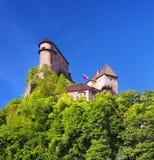 Le torri del guardiano del Orava fortificano, la Slovacchia Fotografia Stock