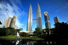 Le torri di Petronas Immagini Stock Libere da Diritti