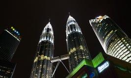 Le torri gemelle di Petronas fotografia stock
