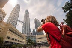 Le torri gemelle di Petronas in Kuala Lumpur, Malesia Immagine Stock Libera da Diritti