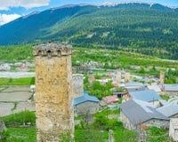 Le torri in Svaneti superiore Fotografie Stock Libere da Diritti