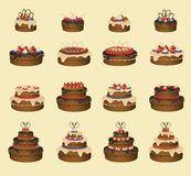 Le torte hanno impostato Immagine Stock
