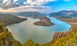 Le tour célèbre de rivière d'Arda Photos libres de droits