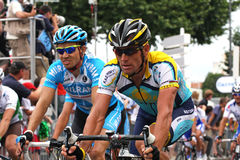 Le-Tour de France 2009 - ringsum 4 Stockfotografie