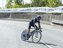 Le Tour de France 2014 de John Gadret- de cycliste Image libre de droits