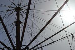 Le tour de machine de vol à la plage Blackpool de plaisir Image stock