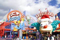 Le tour de Simpsons aux studios universels Hollywood photographie stock libre de droits
