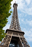 Le Tour Eiffel. Looking up at the Eiffel Tower - Paris - France Royalty Free Stock Images