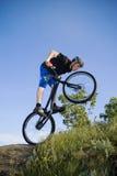 Le tour extrême de vélo photographie stock