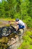 Le tour extrême de vélo Photo stock