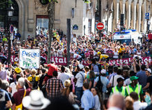 Le Tour of France Crowd Stock Images