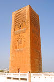 Le Tour Hassan, Rabat, Morocco. The famous landmark of Rabat is the Le Tour Hassan Royalty Free Stock Photo
