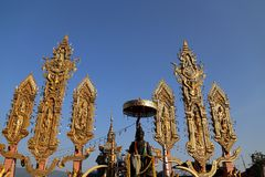 Le tourisme d'or de triangle dans Chiang Rai, Thaïlande Photos stock