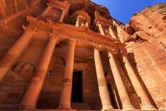 Le trésor à PETRA la ville antique Al Khazneh en Jordanie Photographie stock libre de droits