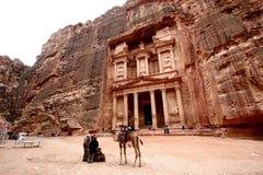 Le trésor de PETRA, Jordanie images stock