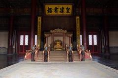 Le trône de l'empereur chinois photo libre de droits