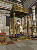 Le trône de la Reine illustration stock
